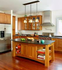 Kitchen Island Idea Rustic Kitchen Island On Wheels