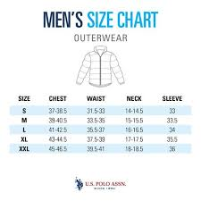Polo Size Chart Size Guide Mens Outerwear U S Polo Assn