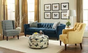 navy blue velvet tufted chesterfield couch ottoman cream