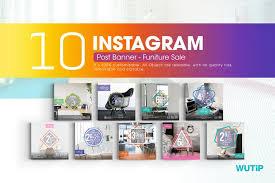 furniture sale banner. 10 Instagram Post Banner - Furniture Sales Sale U