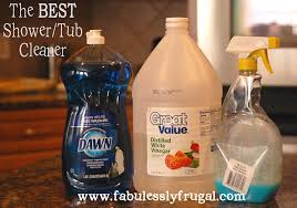 bathtub cleaner vinegar dish soap ideas