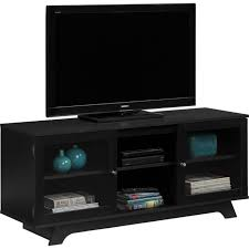 wall mount tv stand media entertainment console modern storage cabinet black for