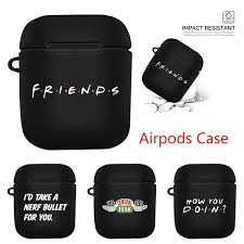 10 Colors Friends Tv Show Airpods Case(Black) - <b>Fashion Case</b> ...