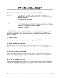 for lease sign template option to lease agreement template sample form biztree com