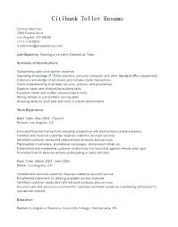 Resume For Teller Job Resume Resume Teller Job Description Examples ...