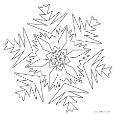 Coloring Pages Snowflakes Snowflake Coloring Pages Printable Page