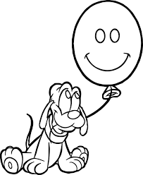 Small Picture Baby Pluto Balloon Coloring Page Wecoloringpage