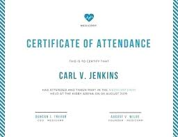 Course Attendance Certificate Template Training Completion