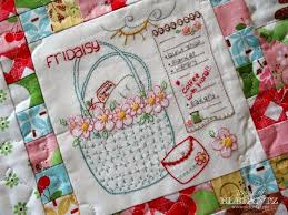 151 best Jenny of Elefantz Embroidery and Quilting images on ... & The Daisy Days quilt features eight sweet stitchery blocks, ten patchwork  blocks finished with simple borders. Adamdwight.com