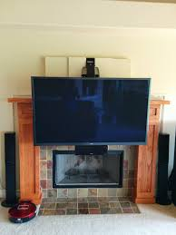 mounting a 64inch plasma tv over a fireplace