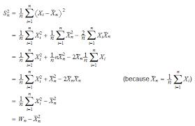 Variance Formula Variance Estimation