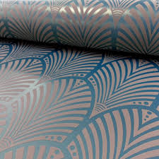 holden gatsby arch pattern wallpaper art deco retro vintage 40s metallic embossed 65253