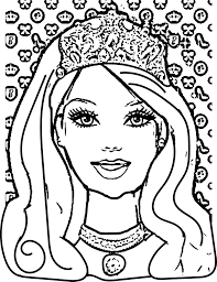 Free Barbie Coloring Pages Attractive Good 53 In Print With And 18