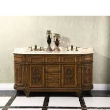 wood and marble double sink vanity 01