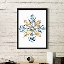 flower leaf frame baroque art parallel repeat modern ilration pattern simple picture frame art prints of paintings home wall decal