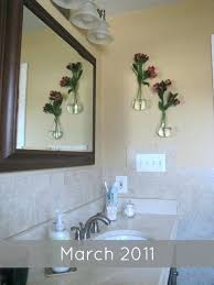bathroom glass hanging vases wall mount hanging glass vase bathroom decor and organization update wall mounted