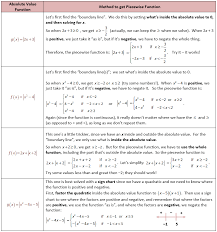 deriving piecewise functions from absolute value functions