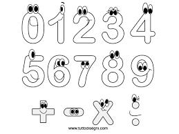 Disegni Numeri Da Colorare Per Bambini Fredrotgans