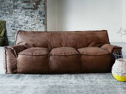 Image Round Soft Leather Sofa Rectangular Brown Shape Comfortable To Sit Three People Modern Design Plus Laserdiscdivisioncom Couch Amazing Soft Leather Couches Soft Leather Recliners Best