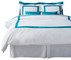 lacozi turquoise and white duvet cover set queen
