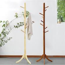 Discount Coat Racks 100% Oak hatrack Wooden coat rack stand 100cm100 wood hook coat rack 2