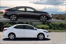 2016 Honda Civic Sedan vs 2016 Toyota Corolla - YouTube