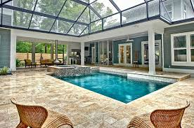 indoor pool and hot tub. View In Gallery An Orb Fireplace And Hot Tub Flank The Cool Pool Indoor U
