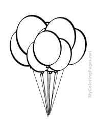 Coloring Birthday Balloon Coloring Pages Best For Kids