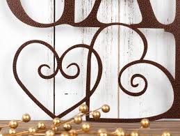 friends family gather here metal sign metal wall art home decor cabin on home is where the heart is metal wall art with friends family gather here metal sign metal wall art home