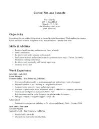 What To Put Under Objective On A Resume Objective For Clerical Resume Accounting Clerk Resume Objective 77