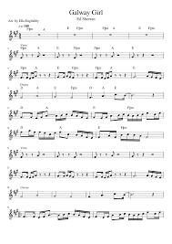 ed sheeran sheet music galway girl ed sheeran updated with chords sheet music for