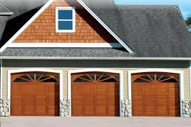 traditional wood garage door