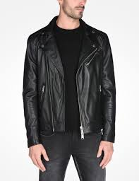 armani exchange leather moto jacket leather for men a x
