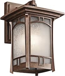 kichler 49450agz one light outdoor wall mount wall porch lights com