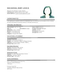 Sample Format Resume Best Of Examples Of A Resume For A Job Yomm