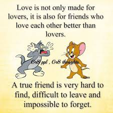 a true friend quote cartoon