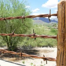 big barb wire fence railing cave creek designs