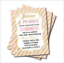 Us 5 39 40 Off 14 Pcs Lot Gold Glitter Pearl Princess Baby Shower Party Invitation Birthday Invites Girls Party Decoration Supply Free Shipping In