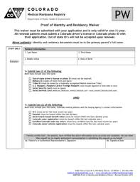 Printable Fill Waiver And Sign Identity Out Colorado Pdf Signnow Residency Coloradogov Template Form Of Proof -