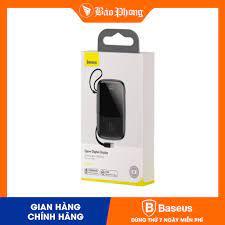 Mã 2404EL10K giảm 10K đơn 20K] Pin dự phòng BASEUS 10000 mAH Q pow Digital  Display 3A PPQD-A01 / B01 - Pin sạc dự phòng di động Thương hiệu Baseus