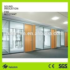 wood office partitions. Decorative Glass Partitions Double And Wood Fixed High Office