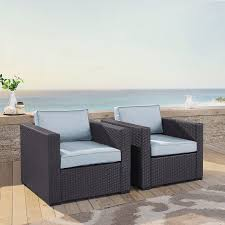 2 person chair intended for highland dunes dinah outdoor wicker with cushions inspirations and ottoman blind recliner in a bag carry