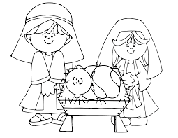 Small Picture Baby Jesus Manger Scene Coloring Page Free Printable Pages At