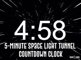 Space Light Tunnel 5 Minute Countdown Video