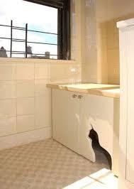corner cat litter box furniture. Cabinet Cutout Corner Cat Litter Box Furniture