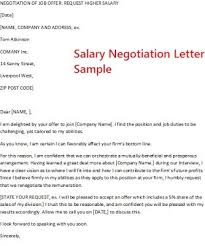how to negotiate an offer letter ideas collection salary negotiation email sample entire pictures