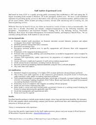 Resume Job Objective For Auditor Nice Entry Level Internal Audit