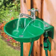 lawn faucet 2 in 1 water fountain and faucet of lawn faucet decorative garden hose holder