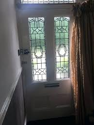 front door curtain leaded stained glass side panels top fan window victorian doors for