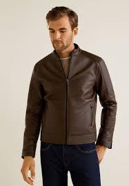 joseno faux leather jacket cognac